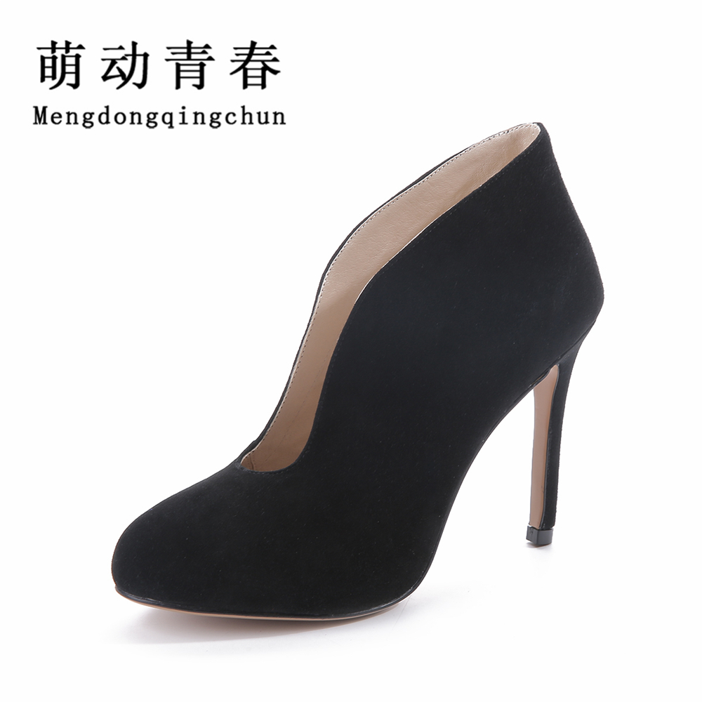 2016 Women Pumps Shoes Woman Thin Heel High Heels Shoes Ladies Genuine Leather Shoes Zapatos Mujer Plus Size woman pumps high heels basic ladies bowknot heel womens pumps thin heels sexy office shoes for women plus size us 10 5