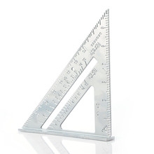 Professionelle Winkelmesser 7-zoll aluminium legierung zimmerei dreieck lineal metric zoll 90 grad 45 grad quadrat dreieck lineal