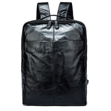 Factory Outlet Genuine Leather Men Bags The first layer Cowhide Men's Laptop Backpacks Large Capacity Travel Bag 17 inch first layer cowhide leather backpack for men laptop bags genuine leather men backpack casual travel backpacks