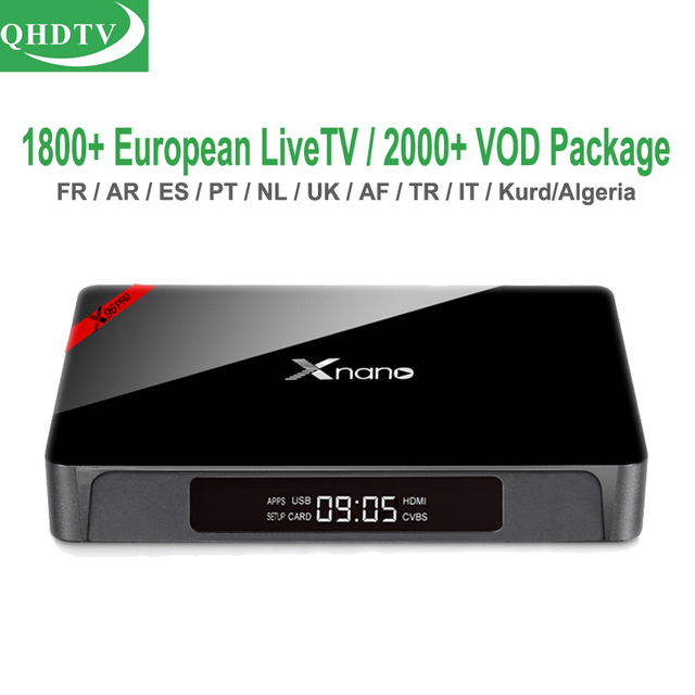 US $73 99 |Portugal 1 Year QHDTV X96pro Android 4K TV Box 1GB 8GB French  Italian IPTV Arabic European TV Channels Germany Dutch uk m3u VOD-in  Set-top