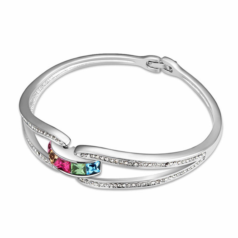 new fashion brands carter bangles for women made with genuine Austria crystal zinc alloy hand jewelry accessories gift