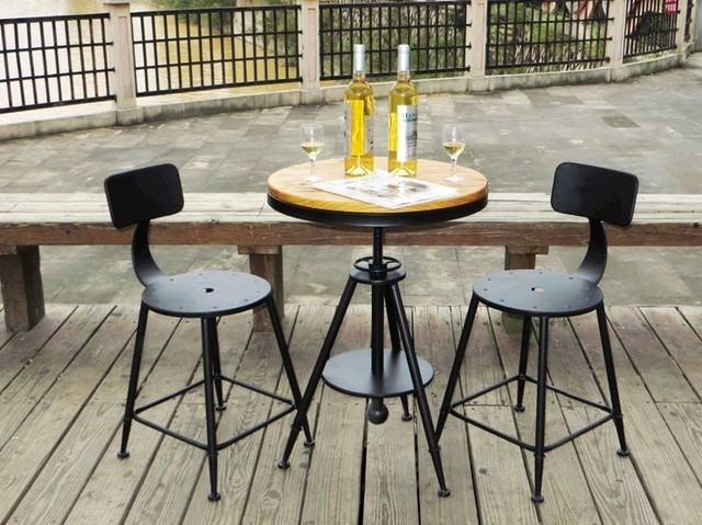 American vintage retro mesa de centro de madera mesa de caf y