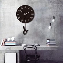 Swing Wall Clock Modern Design Nordic Style Living Room Wall Clocks Fashion Creative Bedroom Silent Quartz Watches 14 inch creative transparent suspension wall clocks nordic simple quartz clock home living room wall decor