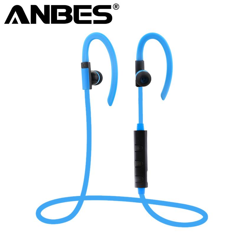 ANBES Wireless Bluetooth Earphone Sweatproof Sport Headset Stereo Headsets With Mic for iPhone Samsung HTC Huawei new metal magnetic wireless bluetooth headphone sport headset hands fress hifi earphone with mic for iphone samsung phones
