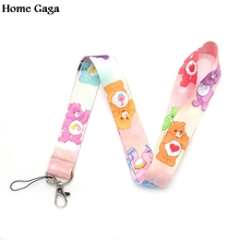 Homegaga Care bears A New Generation cartoon lanyards for keys in mobile phone straps necklace card holders webbing D0838