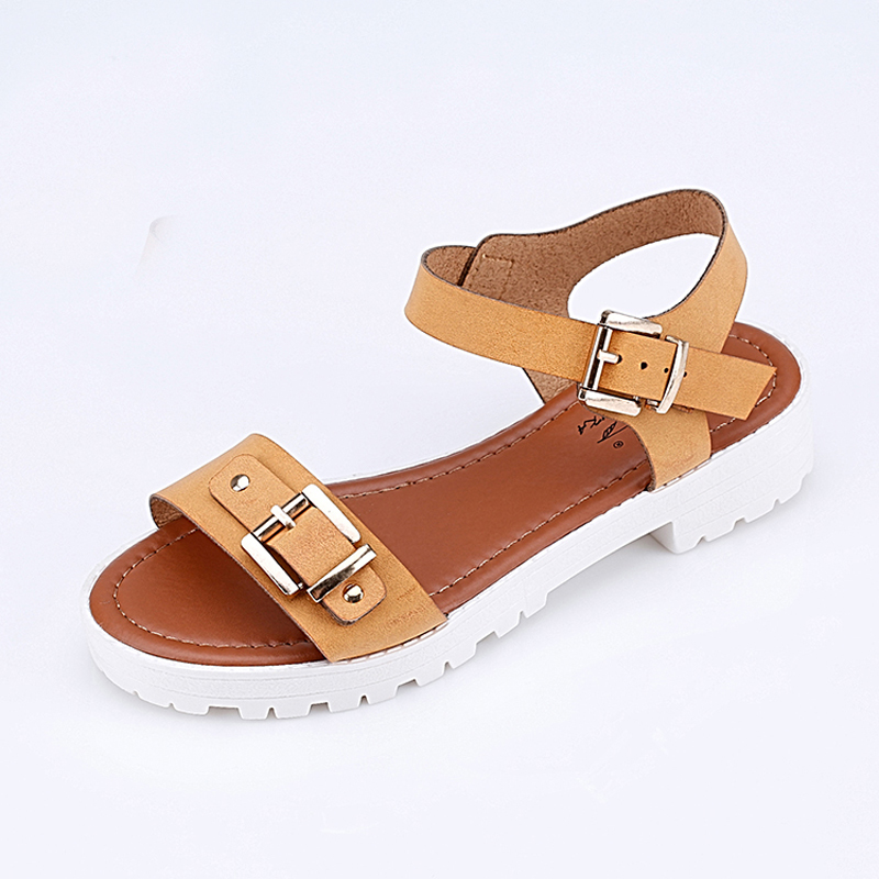 5130690c4fd268 Xemonale 2018 women sandals new summer fashion flat heels trend sandals  size 36 41 buckle strap Creative Beach sandals-in Women s Sandals from  Shoes on ...