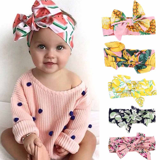 Baby Headband Ribbon Handmade DIY Infant Kids Hair Accessories Girl Newborn Bows bowknot bandage Turban Accessories Feb 5 @30