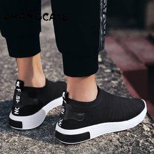 Image 5 - Zapatos blancos de tendencia para hombre, zapatillas ultralivianas para adolescentes, sin calcetines de encaje, tenis masculinos, 2020