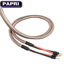 PAPRI MPS E-330 MK2 SP Gold Plated Banana Speaker Connector Plugs 99.99997% OCC Audio Cable HiFi Amplifier Wire hifi audio one pair 8ag occ silver plated audio hifi speaker cable speaker wires 2 to 2 with y spade connector