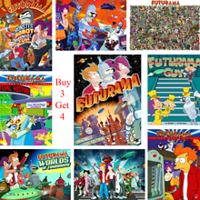 Futurama Posters Cartoon Wall Stickers White Coated Paper Prints High Definition Home Decoration Livingroom Bedroom
