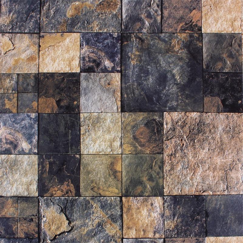 Compra revestimiento de paredes de piedra online al por for Papel para pared imitacion piedra