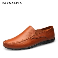 Unisex Summer Spring Breathable Men Shoes Lightweight Leather Flats Fashion Casual Male Shoes Brand Designer Loafers