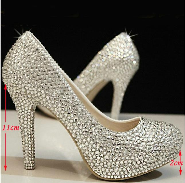 4 Inches high heels rhinestone Shoes women wedding shoes crystal shoes women  shoes platform pumps Party  heels Free Shipping free shipping candy color women garden shoes breathable women beach shoes hsa21
