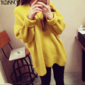 YiZiKKCO Brand Woman Sweater Pullover Fashion 2016 Autumn Wniter Candy Color Design Loose warm High Quality pull femme WHD073