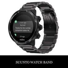New Stainless Steel Watchband Bracelet Strap for SUUNTO 9/ Suunto 9 Brao /Suunto D5/ spartan Sport Wrist HR Baro