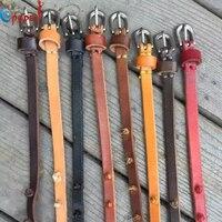 2016 New Women Good Quality Genuine Leather Skinny Belt Thin Waist Belt Straps Narrow Cowhide Designer