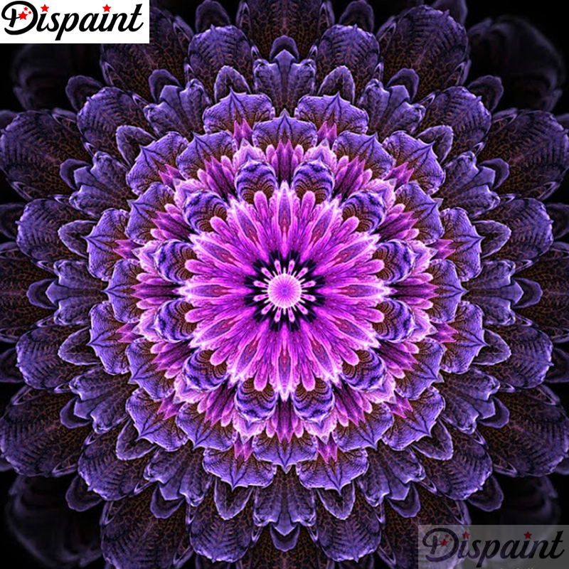 Dispaint Full Square Round Drill 5D DIY Diamond Painting quot Mandala scenery quot 3D Embroidery Cross Stitch 5D Home Decor A11845 in Diamond Painting Cross Stitch from Home amp Garden