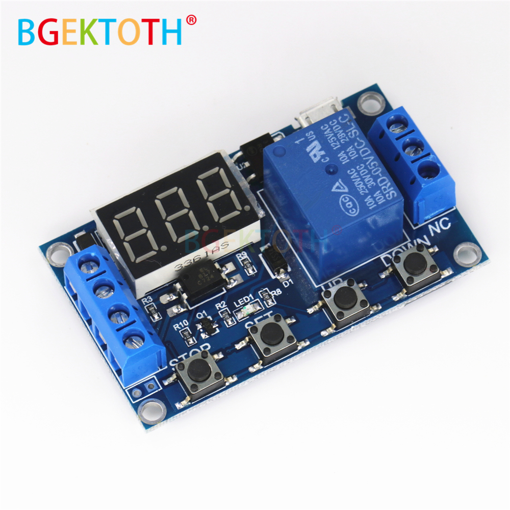 6 30v Relay Module Switch Trigger Time Delay Circuit Timer
