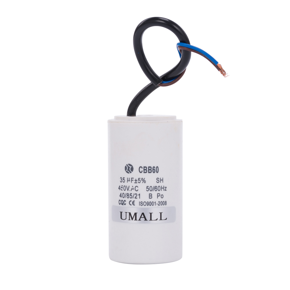 umall cbb60 450v 35uf running motor start capacitor two wires for air  conditioners