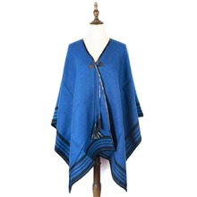 jzhifiyer YX130 480G 125*143cm Ladies Christmas Gifts Winter Opened Tassel Wraps Shwals Blue Shawl Stole