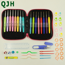 51pcs/set Crochet Hooks Yarn Knitting Needles Sewing Tools Set 16pcs with Comfort Soft Rubber Grip Craft Case