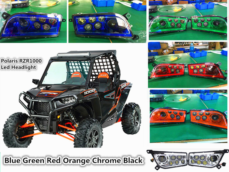 Polaris RZR 1000 accessories Led Headlight Kit Headlamp For ATV UTV RZR 900 / RZR XP 4 TURBO / Polaris 1000 / RZR XP 4 1000 Blue цена 2017