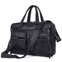 Guarantee Leather Briefcase Laptop Handbag Messenger Business Bags for Men