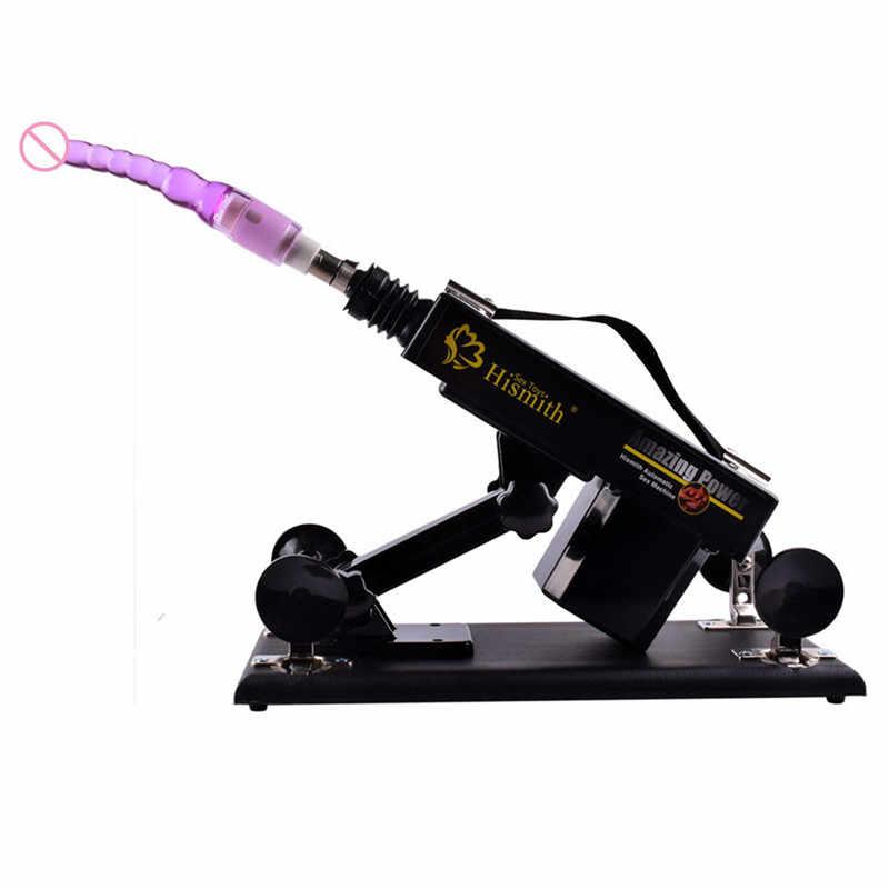 Otomatik Sokma ile Seks Makinesi 4 Aksesuar Gerçekçi Yapay Penis Aşk Makineleri Masaj Mobilya Yetişkin Oyunu Çiftler için E5-1-76