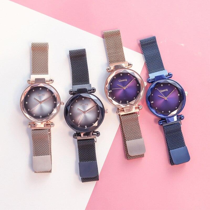 2019 Magnet Magnetic Force Unique Creative Band Women Luxury Quartz Watches Ladies Dress Wristwatches Watch NO Box&Bracelet 8