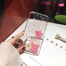Qianliyao настоящие сухоцветы чехол s для iPhone X XR XS Max 6 6S 7 8 plus 11 Pro Max чехол для телефона Роскошный Блестящий Мягкий ТПУ чехол