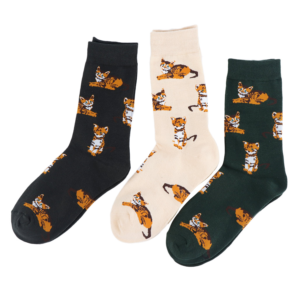 Lovely Cat Pattern Women Cotton Stockings Cartoon Jacquard Stockings Casual Stockings Unisex Warm Winter Accessories