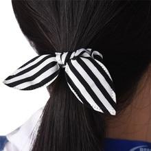 Enduring New 1PC Rabbit Ears Stripes Hair Ring