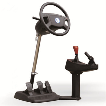 Chinese school Emulate Computer game steering wheel  car driving simulator training aircraft automobile race video software Маникюр