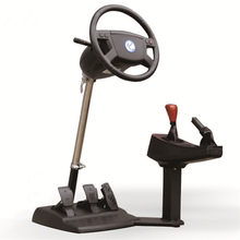 Chinese school Emulate Computer game steering wheel / car driving simulator training aircraft /automobile race/ video software(China)