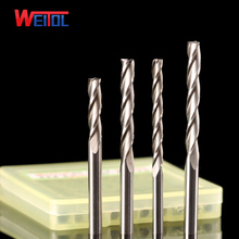 цена на Weitol 5pcs N free shipping 3.175mm three flutes end mill cnc router bit milling cutter carving tool for wood