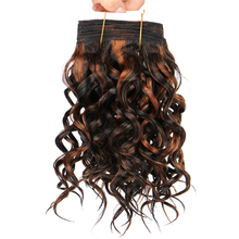 100 г/шт., 12-20 дюймов, P1B/30#, богемные короткие кудрявые волнистые волосы, пряди, высокотемпературные синтетические волосы для наращивания для женщин
