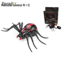 Intellectual RC Spider Toy Spider Model Toy Intelligent Scary Simulation Spider Plastic Electronic Components Developmental(China)