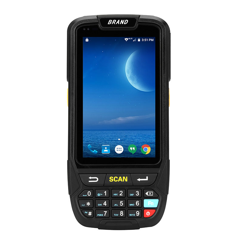 POS Terminal 2D Handheld Bluetooth 4.0 4g Waterproof Mini Barcode Scanner PDA Android 7.0 Laser Inventory Barcode Scanner inventory accounting