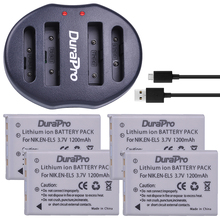 4Pc EN EL5 EN EL5 EnEL5 Li ion Rechargeable Battery Dual USB Charger For Nikon Camera