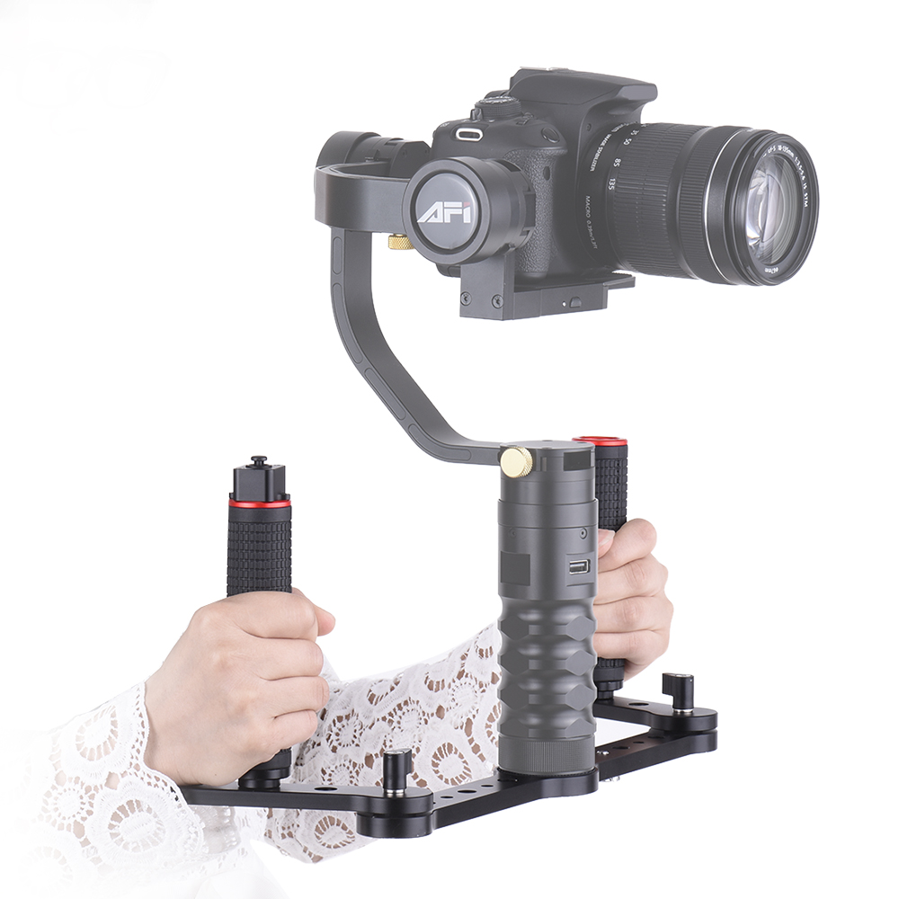 Aluminum Alloy Material 3SD-1A Dual Grip Gimbal Handle with Joystick Control for AFI VS-3SD 3-Axis Gimbal Stabilizer