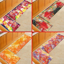 Nordic Style Kitchen Rugs Personality Pattern Blanket 3d Printed Carpets Comfortable And Natural Restaurant Floor Mats