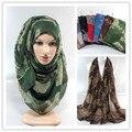 2015 nuevas mujeres del diseño de chales de algodón larga viscosa retro musulmán hijab islámico scarve 10 unids/lote