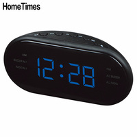 New Fashion Modern AM FM LED Clock Radio Electronic Desktop Alarm Clock Digital Table Clocks Snooze