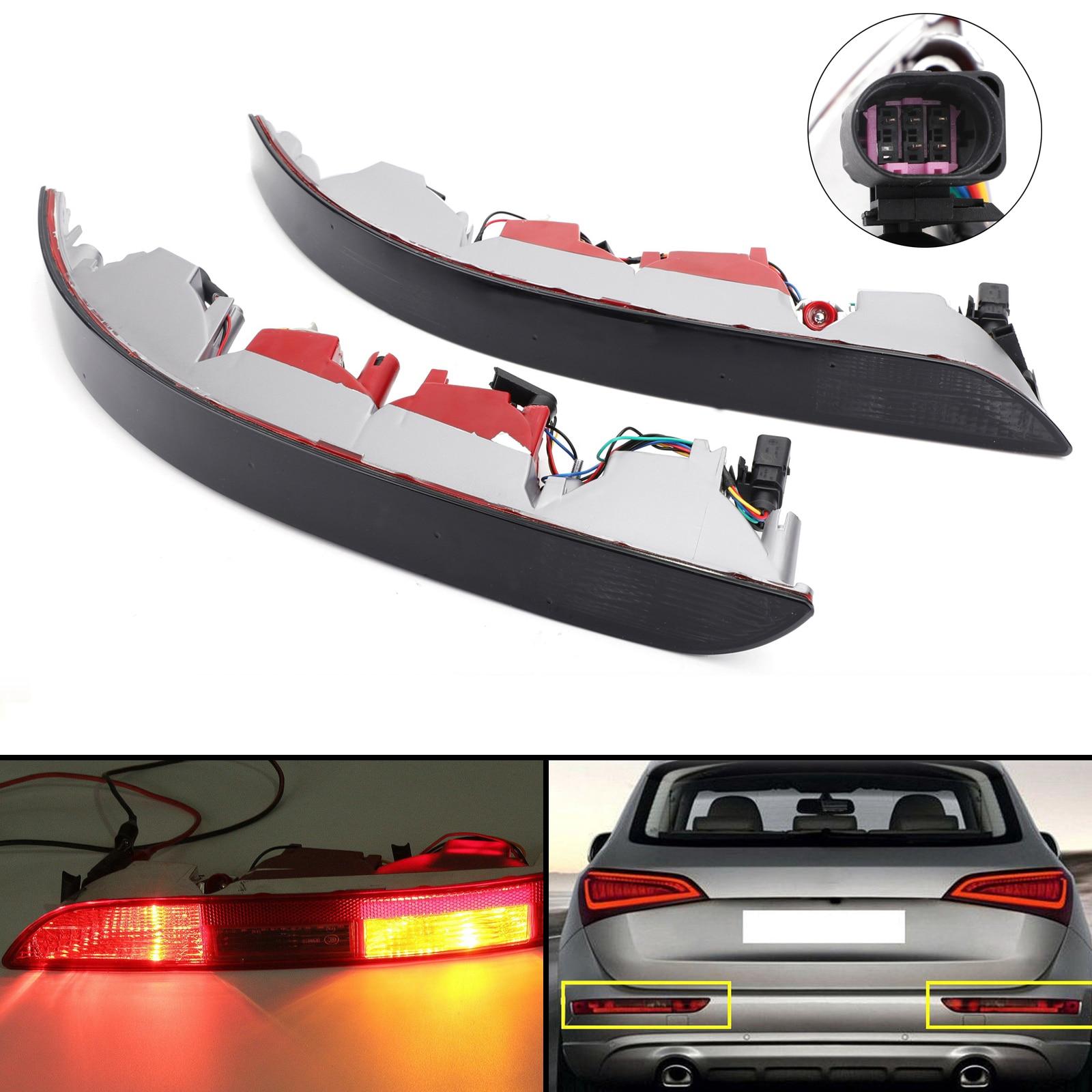 Areyourshop feu arrière arrière réflecteur de pare-chocs inférieur feu arrière pour AUDI Q5 2.0 T 09-16 pièce de voiture de feu arrière réflecteur de pare-chocs