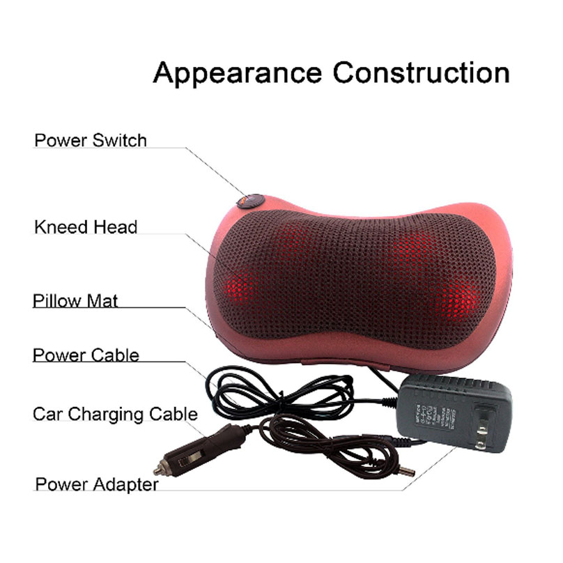 Massage Device Neck Relaxation Pillow Massage Devices Electric Shoulder Back Massager Car Shiatsu MassagePillow With Heating in Massage Relaxation from Beauty Health
