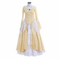 Викторианской элегантный готический аристократ 18th века женские Платье для косплея средневековой Свадебный костюм L0516
