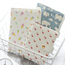 A6 PU Leather Notebooks Time Planners Schedule Agenda Flamingo Diary Organizer Journal Stationery Store School Office Supplies