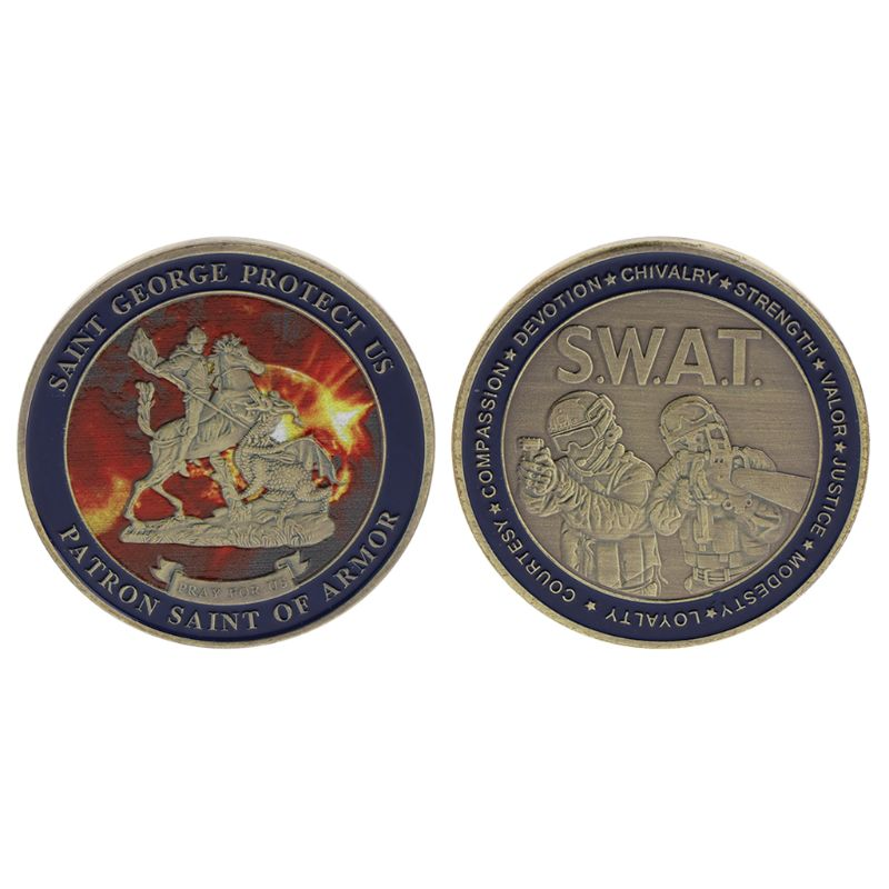 Commemorative Coin Saint George Cop Special Police Security Collection Art Crafts Souvenir Collectible Coins