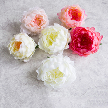 Artificial Peony flower head Silk heads accessories fake for wedding decoration DIY headdress peony flowers decora