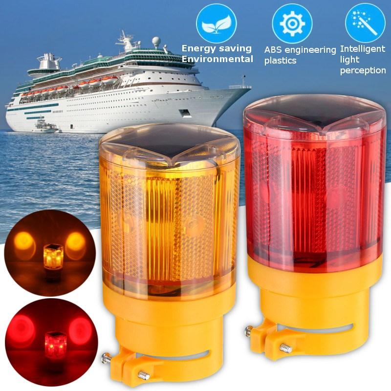 Versprechende Solarbetriebene LED Notlicht Helle Taschenlampe Verkehrs Strobe Warnleuchte Flimmern Leuchtfeuer Verkehrszeichen Lam